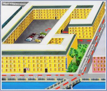 Схема проезда на стоянку АМК